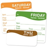ToughMark Day of the Week Labels | Public Kitchen Supply