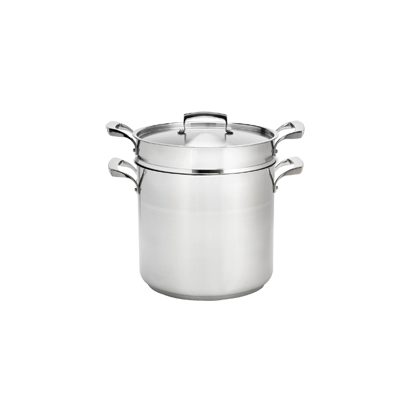 Browne - 12 Qt Double Boiler W/Inset (SS) | Public Kitchen Supply