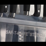 The Saf-T-Knife Station from San Jamar | Public Kitchen Supply