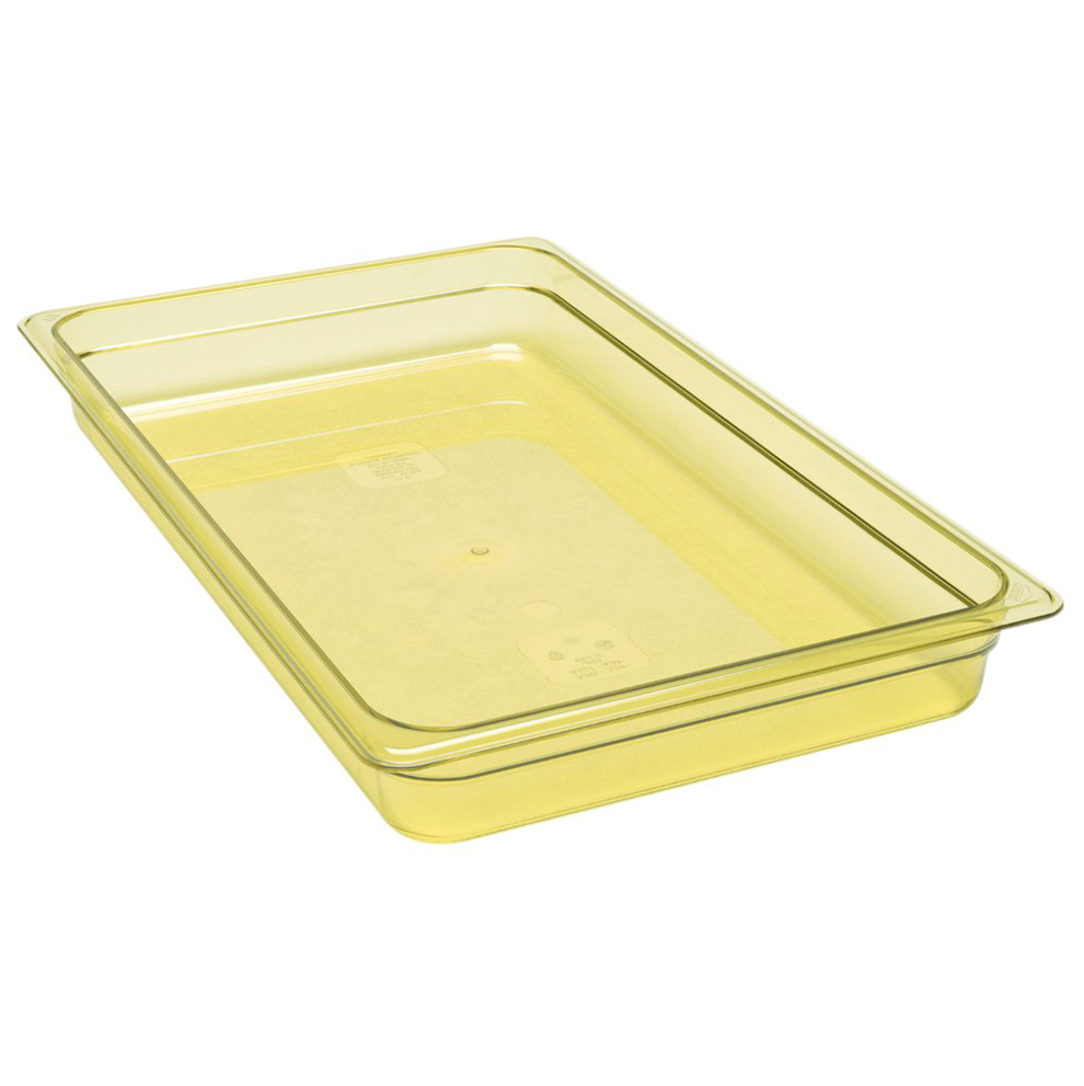 "Cambro - Full 1/1 Size x 2"""" Deep Food Pan Amber Hot 