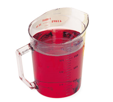 Cambro - 1 Qt Measuring Cup (Clear) | Public Kitchen Supply