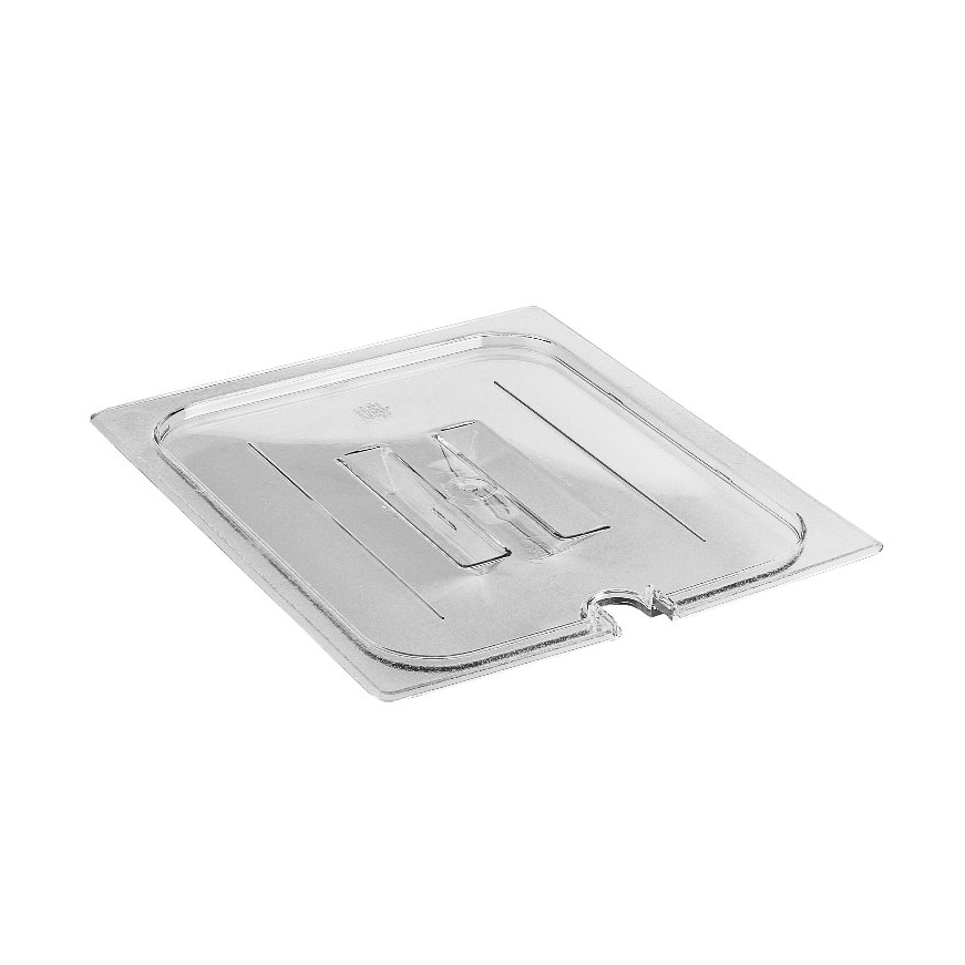 Cambro - Half 1/2 Size Food Pan Cover W/Handle & Notch Clear Cold | Public Kitchen Supply