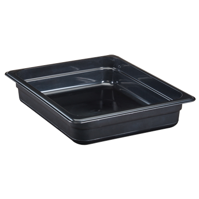 "Cambro - 1/2 Size x 2.5"""" Deep High Heat Food Pan (Blk)