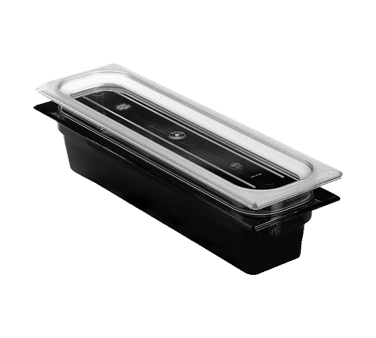 "Cambro - Half 1/2 Size Long x 2"""" Deep High-Heat Food Pan Amber Hot 