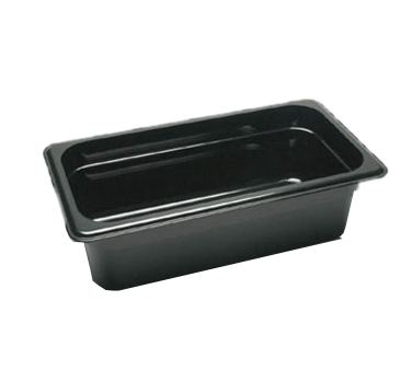 "Cambro - 1/3 Size x 4"""" Deep Food Pan (Blk) 