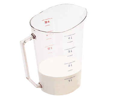 Cambro - 4 Qt Measuring Cup (Clear) | Public Kitchen Supply