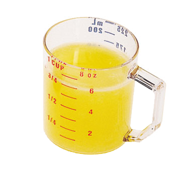 Cambro - 1 Cup Measuring Cup (Clear) | Public Kitchen Supply