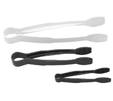 "Cambro - 6"""" Flat Grip Surface Tongs (Blk) 