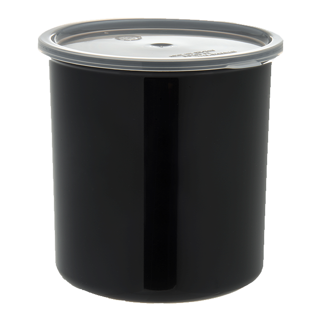 Carlisle- Classic Crock, 2.7 qt., snap-on polypropylene lid, black (30203)