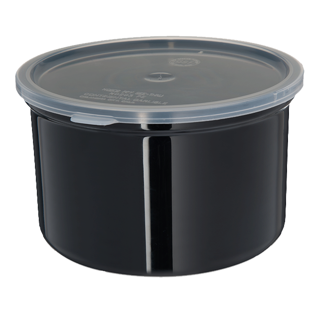 Carlisle- Classic Crock, 1.5 qt., snap-on polypropylene lid, black (31603)