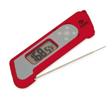 CDN - ProAccurate Red Folding Theruple Thermometer | Public Kitchen Supply