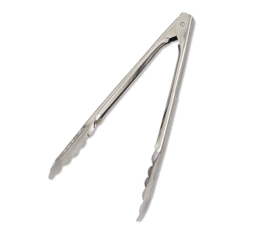 "Browne - 9.5"""" Stainless Utility Tongs 