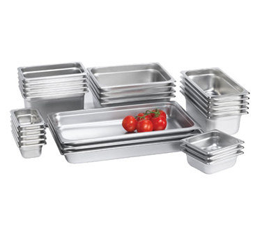 "Browne - 1/3 Size x 6"""" Stainless Steam Table Pan