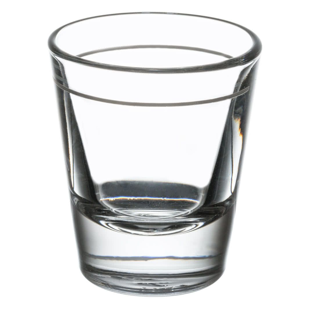 "Libbey -Shot Glass, 1-1/2 oz., lined at 1 oz.  (H 2-3/8""; T 2""; B 1-3/8""; D 2"") (5120/A0007)"
