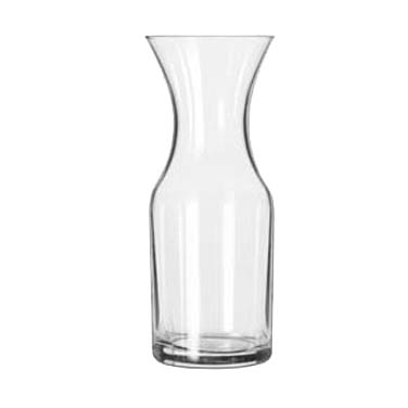 Libbey- Carafe, 10 oz. rim full (6 oz. below the neck), glass, clear 12/Case (782)