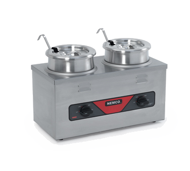 Nemco - 4 Qt Twin Well Countertop Warmer (SS) | Public Kitchen Supply