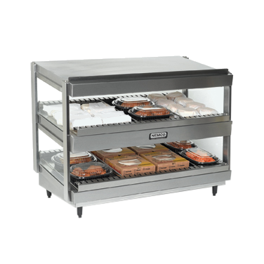 "Nemco - 18"""" Dual Shelf Stainless Merchandiser 