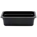 "Cambro - 1/3 Size x 4"" Deep Food Pan (Blk) 