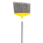 "Rubbermaid - 1""dia Aluminum Handle Angled Broom (Gray) 