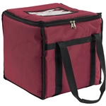 "San Jamar - 12"" Food Carrier (Burgundy) 