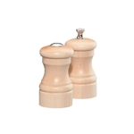 "Chef Specialties - 4"" Capstan Natural Maple Pepper Mill/Salt Shaker