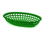 Tablecraft - Classic Food Basket (Forest Green) | Public Kitchen Supply