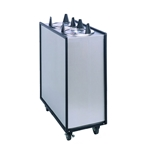 "APW Wyott - Four Tube Heated Enclosed Mobile Dispenser (6"""" Plate) 