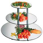 "Cal-Mil - 24"" Round 3-Tier Mirror Riser 