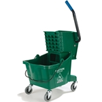 Carlisle - 30 Qt Mop Bucket & Wringer Combo (Green) | Public Kitchen Supply