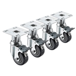 "Krowne Metal - 6""-7"" Adjustable Height Casters (4 ct) 