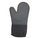 "Clipper - Silicone 13"" Black Oven Mitt 
