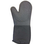 "Clipper - Silicone 15"" Black Oven Mitt 