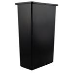 Continental Commercial - 23 Gal Slim Jim Trash Container (Black) | Public Kitchen Supply