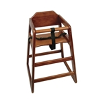 Houstons - Assembled Walnut High Chair | Public Kitchen Supply
