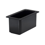 "Cambro - 1/3 Sz x 6"" Deep Coldfest Food Pan (Black) 