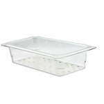 "Cambro - 1/3 Size x 3"" Deep Pan Colander (CLR) 
