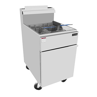 "Padela- Fryer, gas, floor model, 75 lb. capacity, 21.1""W x 30.1""D x 44.4""H, (5) burners, (PCFS-75)"