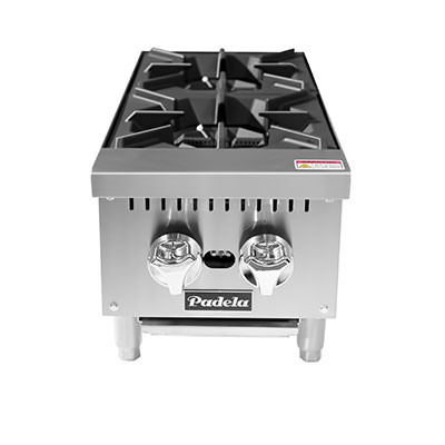"Padela- Hotplate, counter top, gas, 12.0""W x 29.1""D x 13.1""H, (2) 25,000 BTU burners, (PCHP-12-2)"