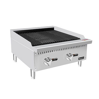 "Padela- Heavy Duty Radiant Charbroiler, natural gas, countertop, 24"", (2) stainless steel burners, (PCRB-24)"