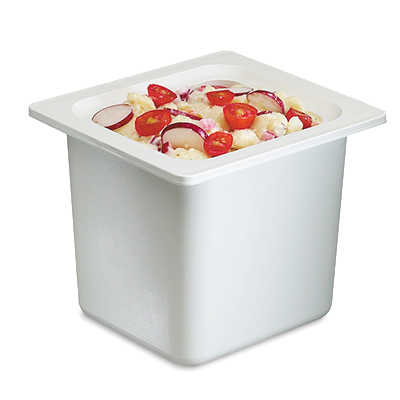 San Jamar - 1/6 Size Chill-It Insulated Food Pan (White) | Public Kitchen Supply