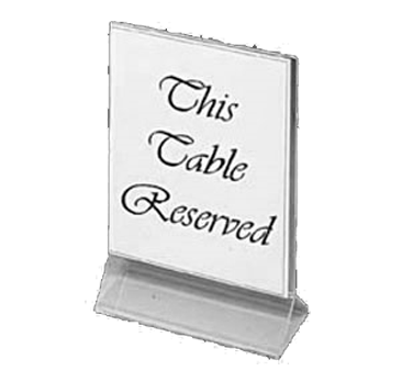 "Update International - 4"""" x 6"""" Clear Table Card Holder 