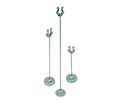 "Update International - 12"""" Stainless Menu Stand 