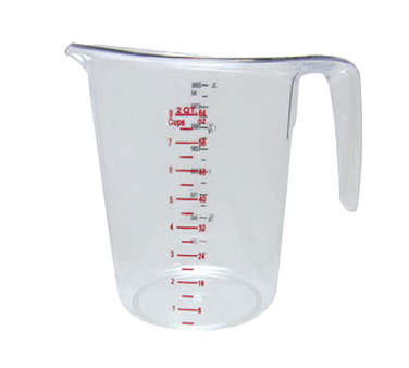 Update International - 2 Qt Plastic Measuring Cup | Public Kitchen Supply
