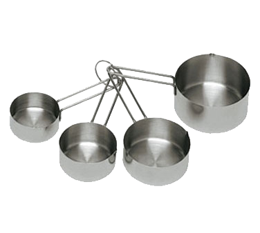 Update International - 4-Piece Measuring Cup Set | Public Kitchen Supply