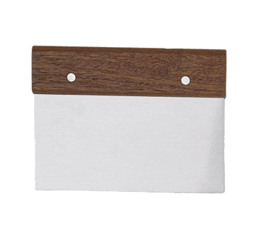 "Update International - 6"""" x 3"""" Wood Dough Scraper 