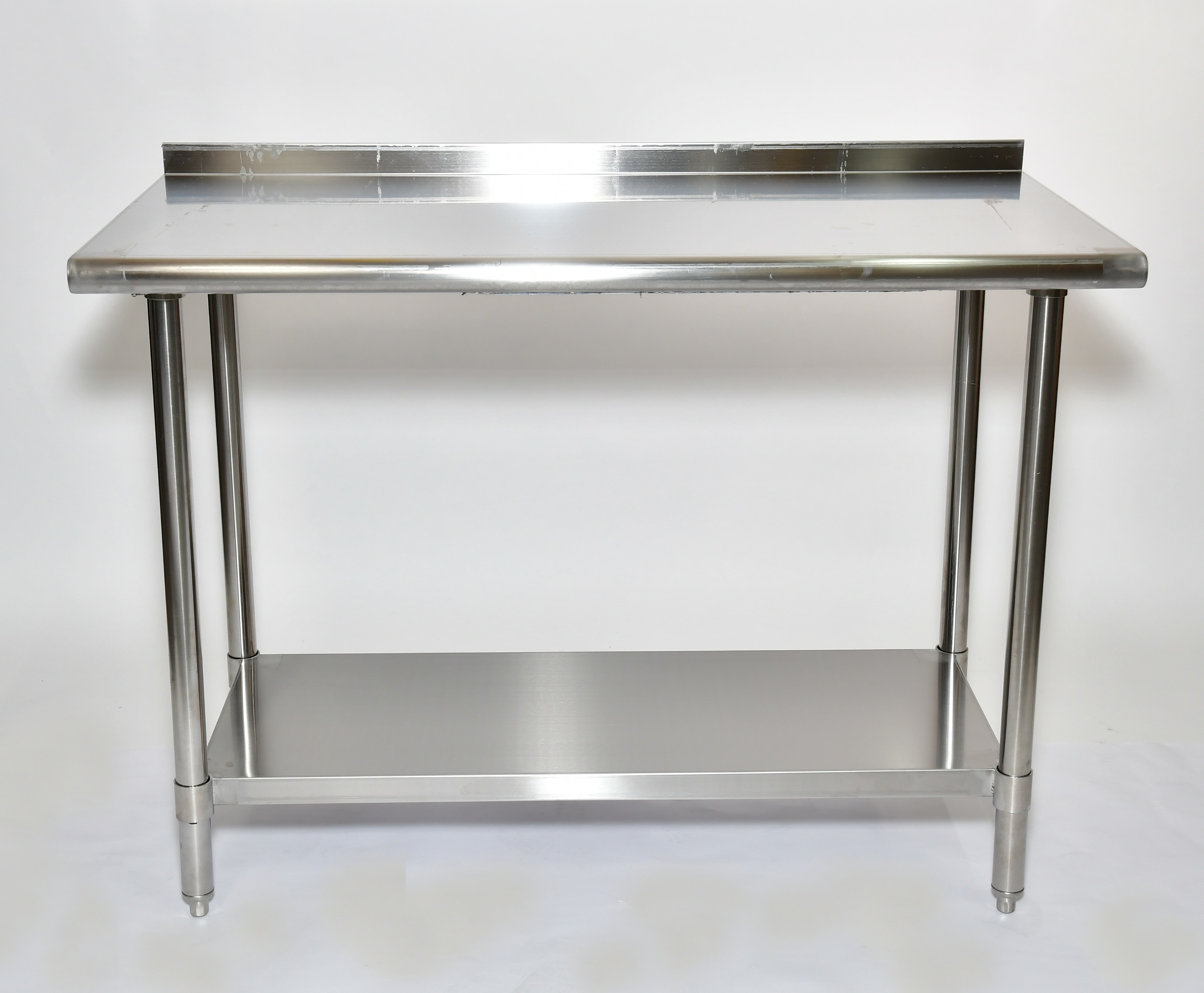 "Iron Guard-Work Table All SS 30 X 30 with 2"" Back Splash,  430-16GA with 18GA Undershelf (SKIWT3030EBS) 