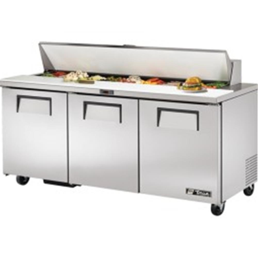 True Door Refrigerated Prep Unit Pan Public Kitchen Supply - True refrigerated prep table