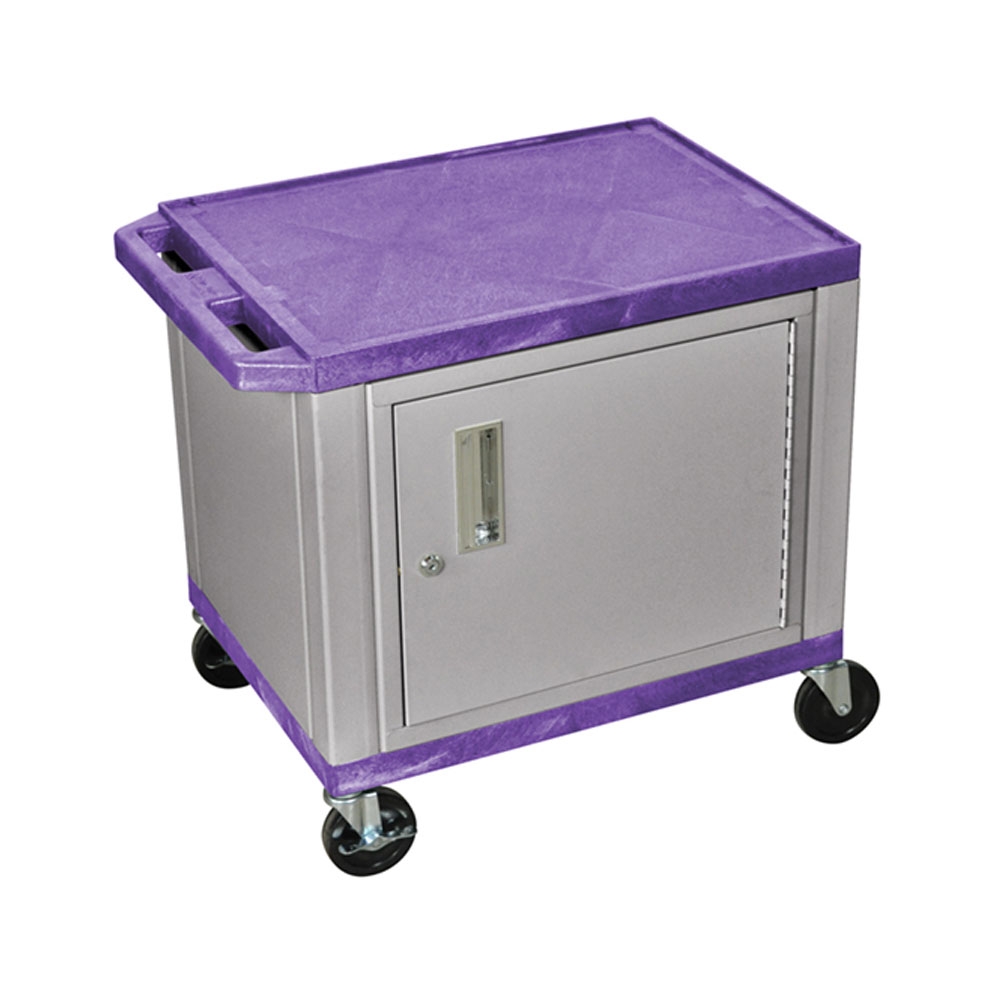 "H Wilson - 24.5"" Purple Accent Nickel Cabinet Tuffy Presentation Station 